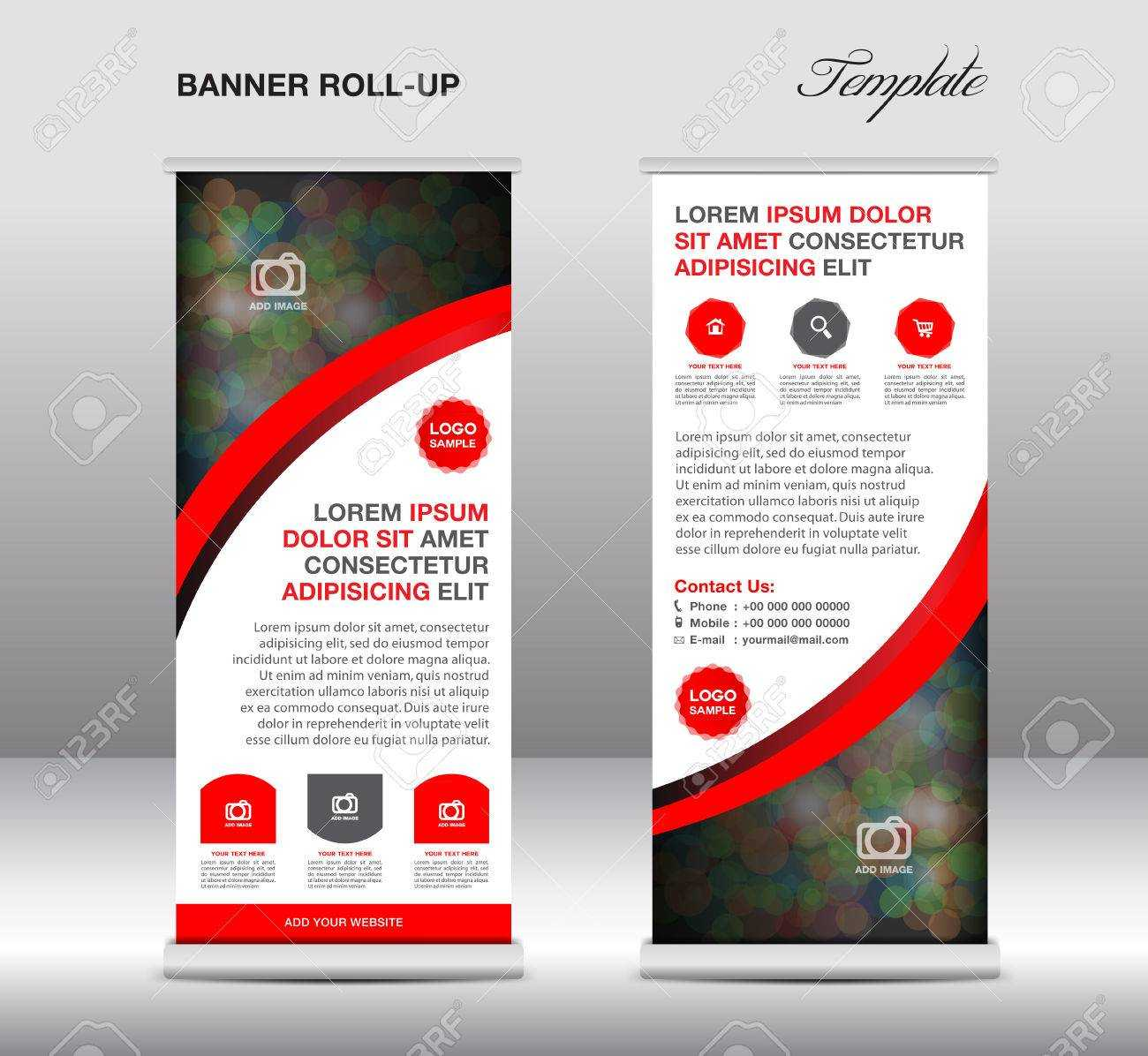 Green And Blue Roll Up Banner Stand Template, Stand Design,banner.. Pertaining To Pop Up Banner Design Template