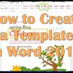 How To Create A Template In Word 2013 throughout How To Create A Template In Word 2013