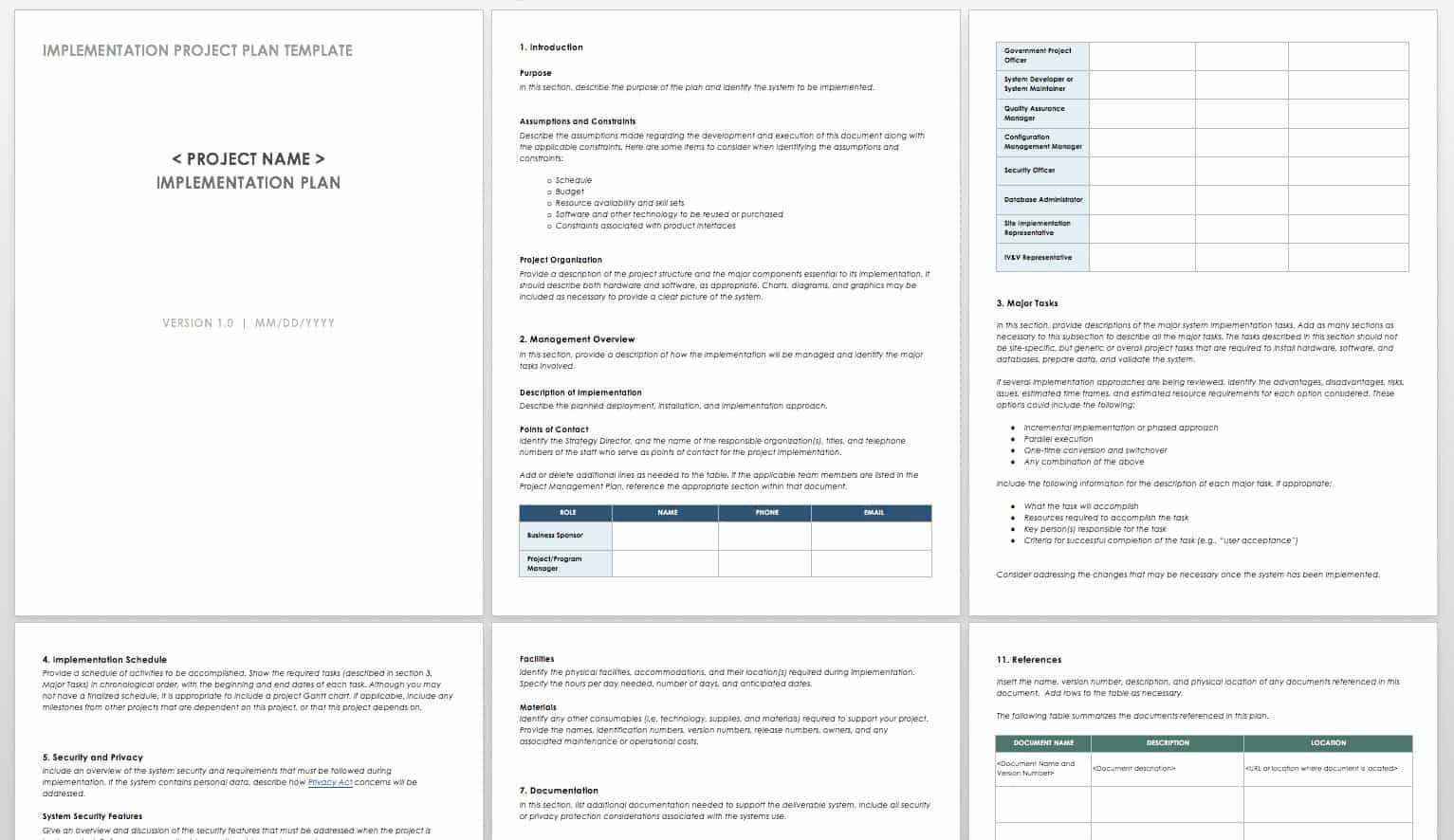 How To Create An Implementation Plan | Smartsheet Inside Project Implementation Report Template