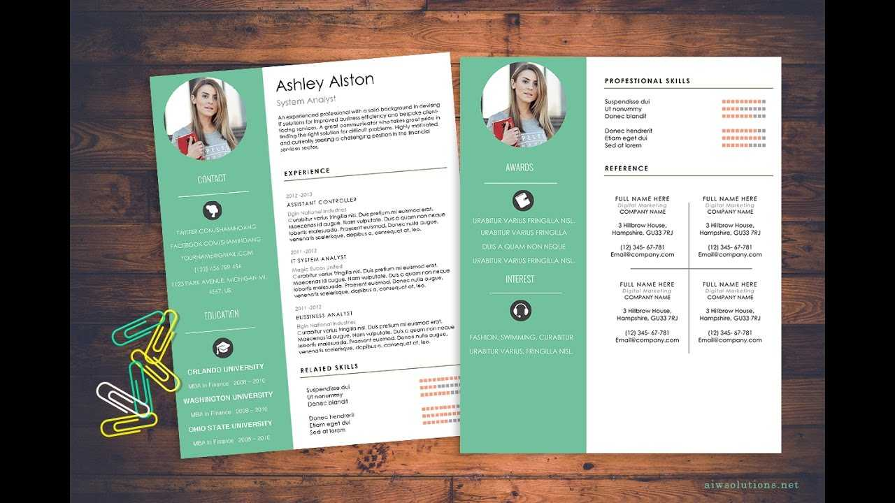 How To Create Cv/ Resume In Ms Word Inside How To Create A Cv Template In Word