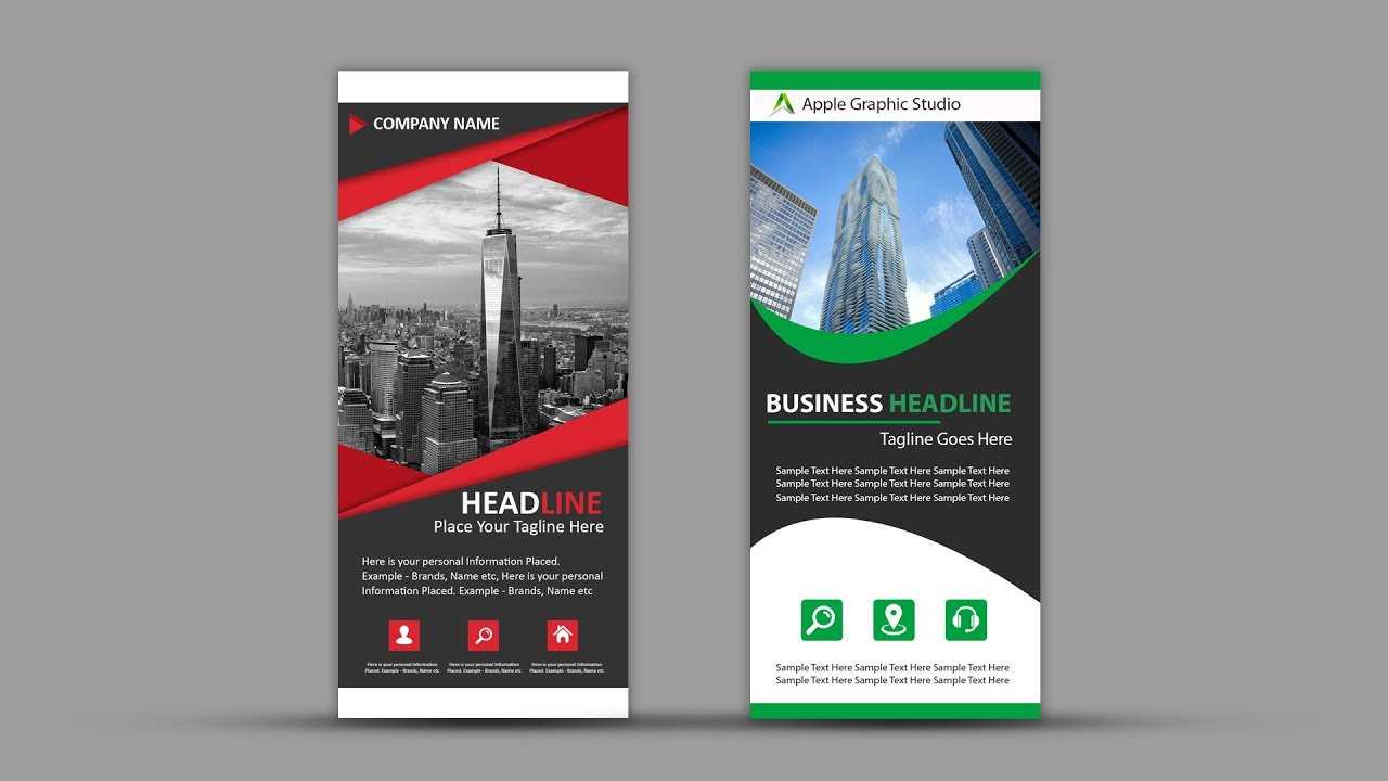 How To Design Roll Up Banner For Business | Photoshop Tutorial Regarding Pop Up Banner Design Template