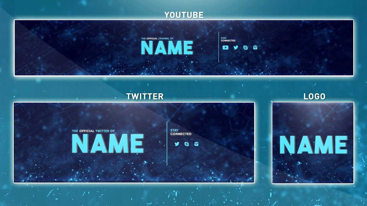 How To Edit On Youtube Banner Template   Photoshop (Banner - Logo - Twitter  Psd) For Banner Template For Photoshop