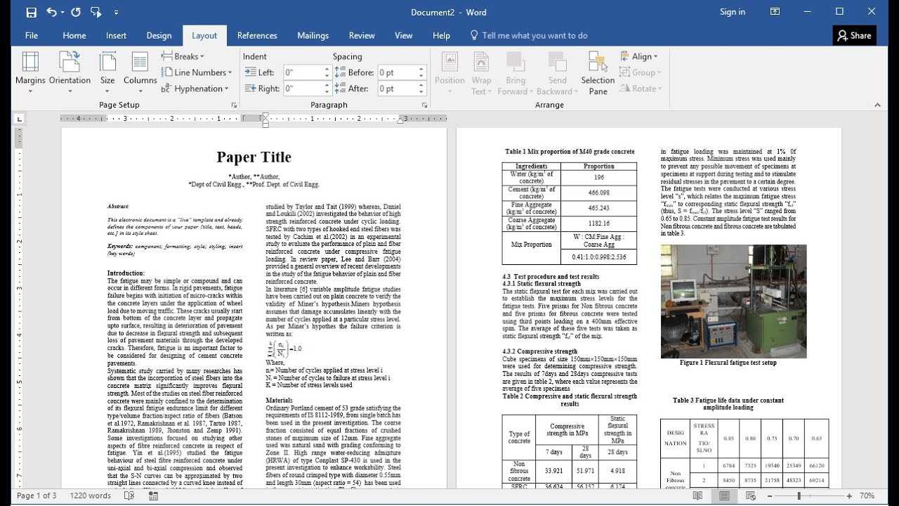 How To Prepare Research Paper For Publication In Ms Word (Easy) Inside Scientific Paper Template Word 2010