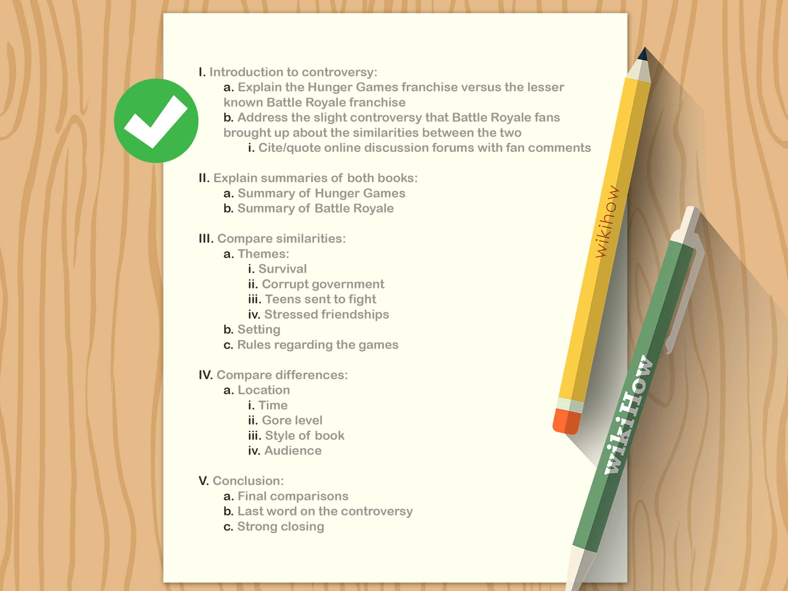 How To Write An Outline (With Pictures) – Wikihow Within Skeleton Book Report Template