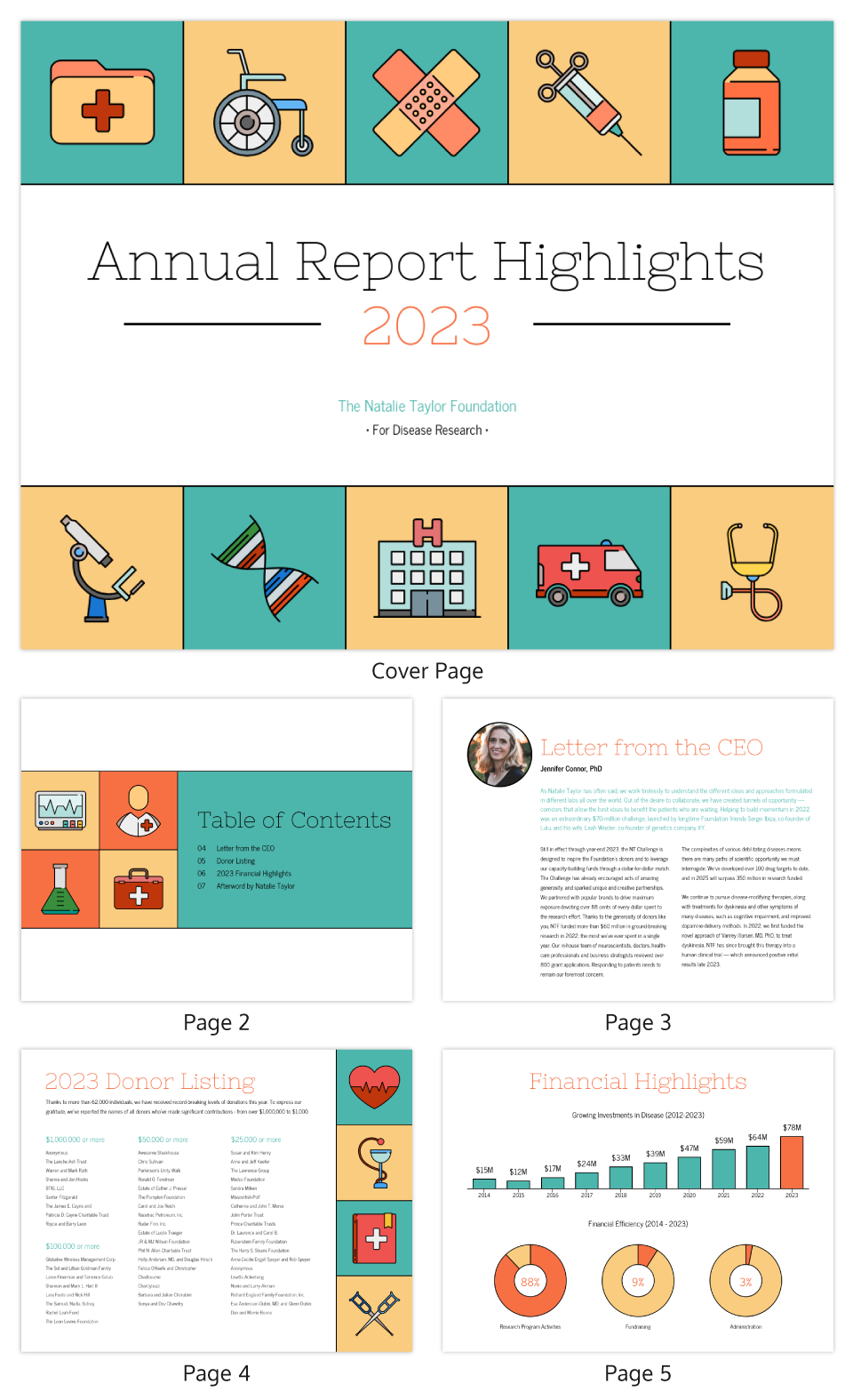 Illustrative Medical Nonprofit Annual Report Template Within Nonprofit Annual Report Template