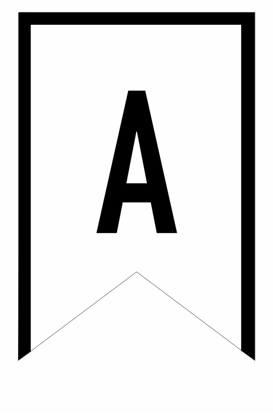 Letter Banner Template – Papele.alimentacionsegura Throughout Free Printable Pennant Banner Template