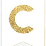Letter Template For Banners – Gold Letter S Banner, Hd Png Inside Letter Templates For Banners