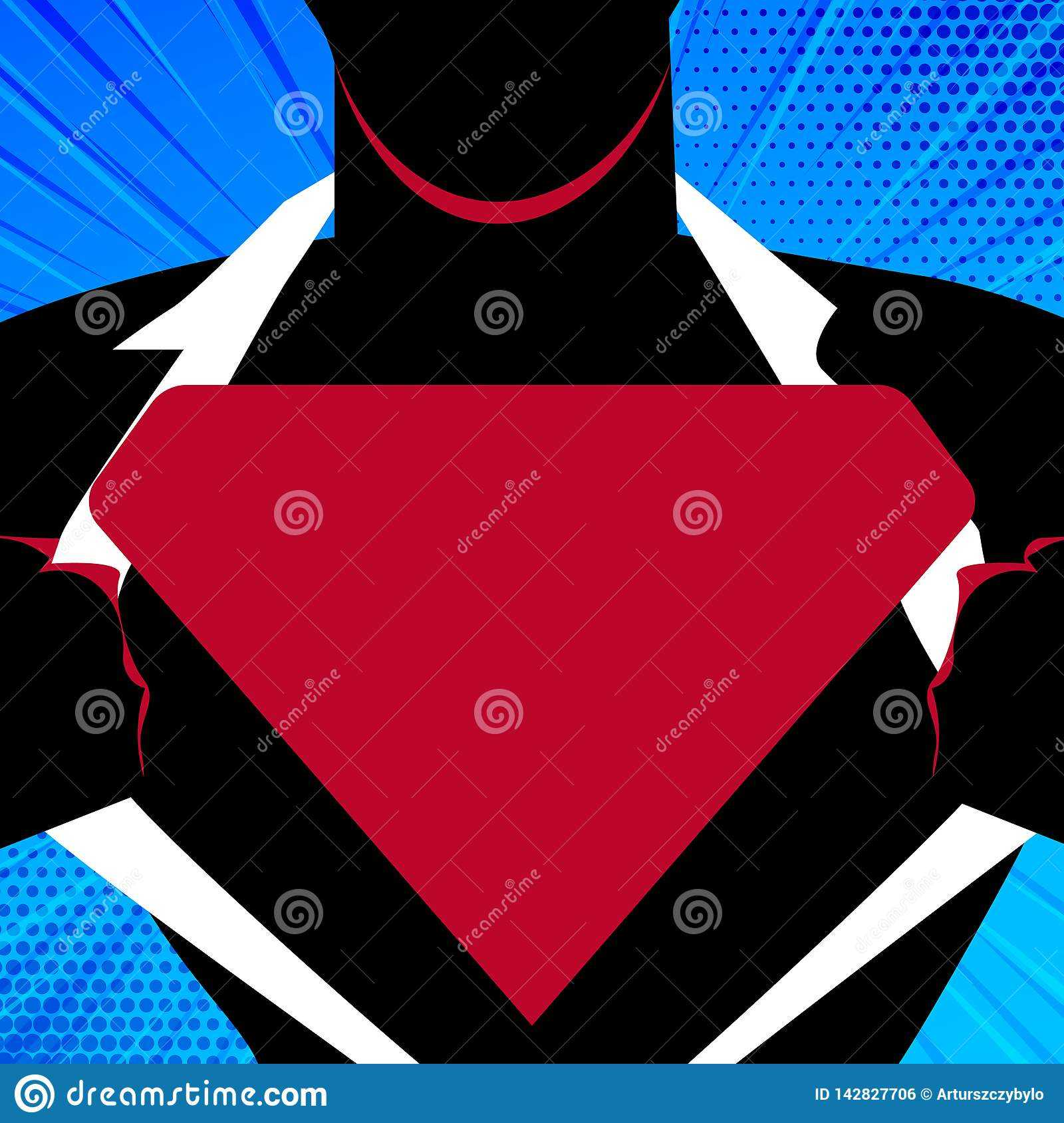 Man In Superman Pose Opening Shirt To Reveal Blank Throughout Blank Superman Logo Template