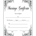 Marriage Certificate - Fill Online, Printable, Fillable throughout Blank Marriage Certificate Template