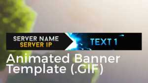 """Minecraft Animated Server Banner Template """"super Dazzle"""" throughout Minecraft Server Banner Template"""