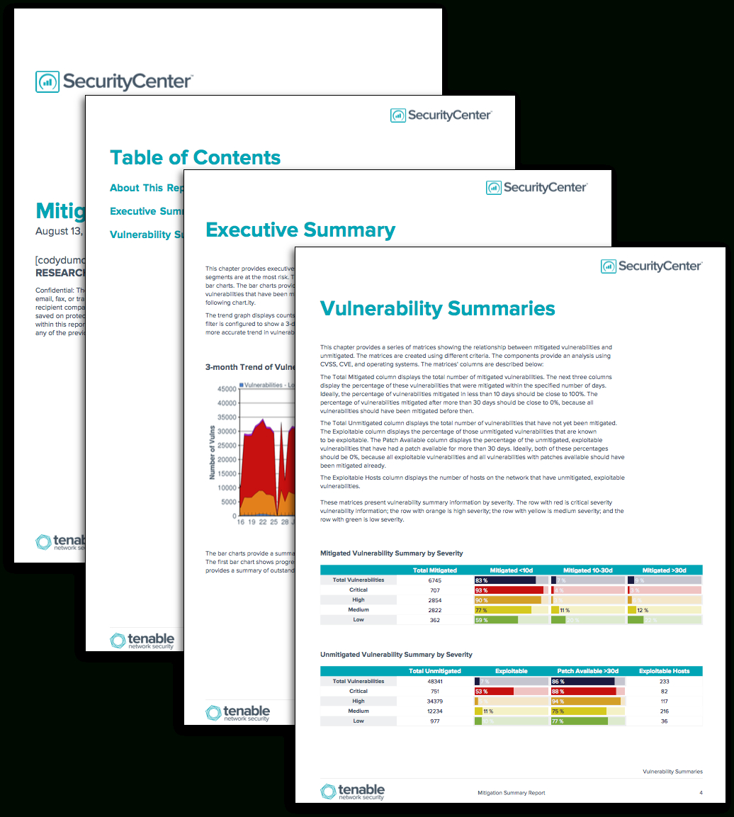 Mitigation Summary Report - Sc Report Template | Tenable® With Regard To Risk Mitigation Report Template