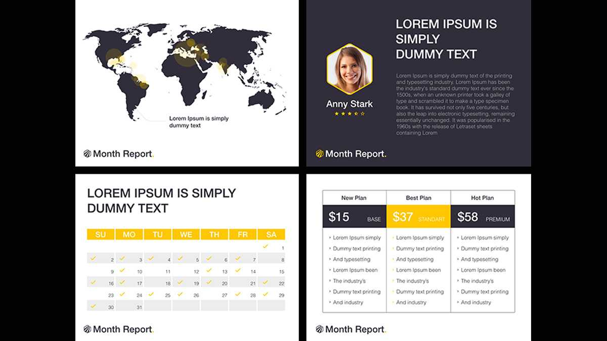Month Report Powerpoint Template Inside Monthly Report Template Ppt