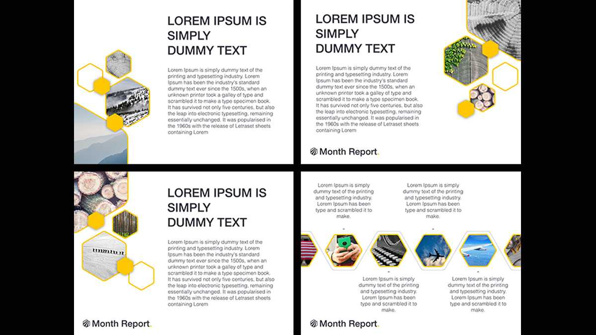 Month Report Powerpoint Template With Monthly Report Template Ppt