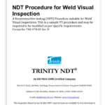 Ndt Procedure For Weld Visual Inspection Within Welding Inspection Report Template