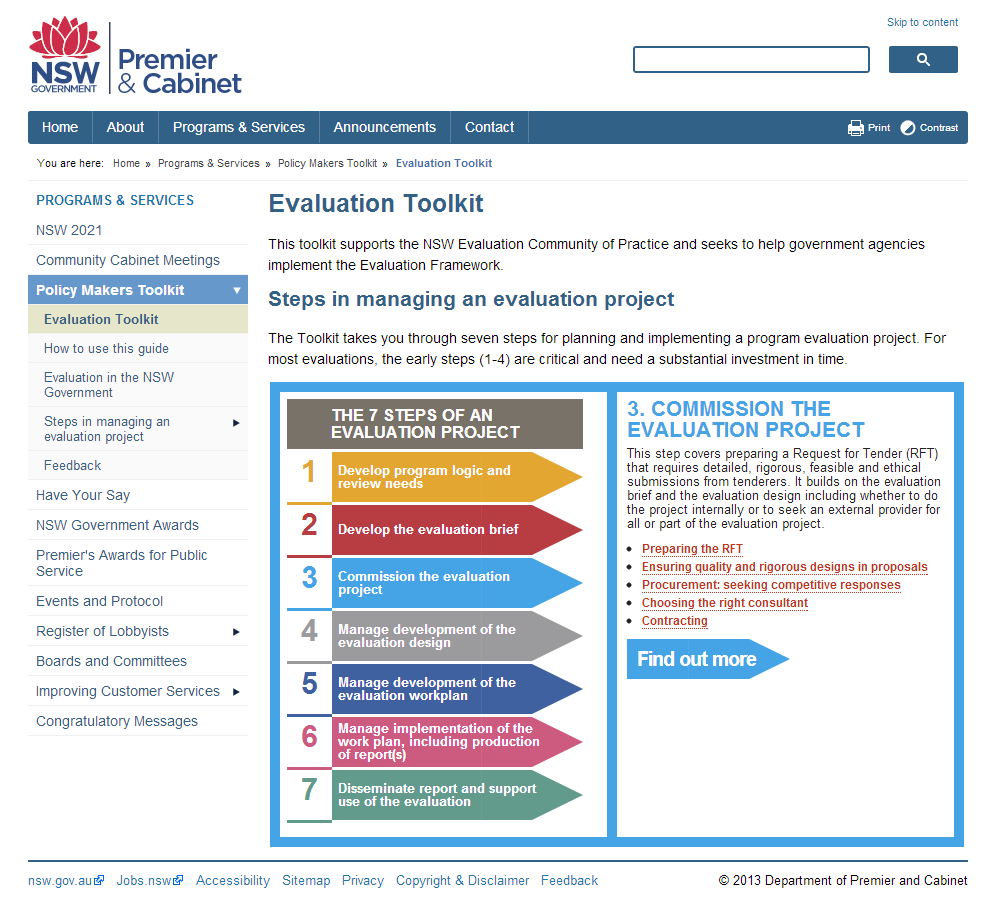 Nsw Government Evaluation Toolkit   Better Evaluation With Monitoring And Evaluation Report Writing Template