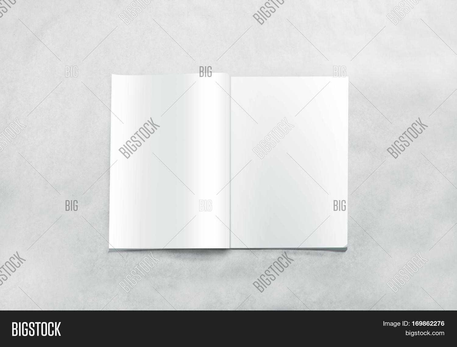 Opened Blank Magazine Image & Photo (Free Trial) | Bigstock Throughout Blank Magazine Spread Template