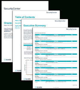 Oracle Audit Results - Sc Report Template | Tenable® inside Security Audit Report Template
