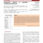 Pdf) Minimizing Defects In Building Construction Project Throughout Construction Deficiency Report Template