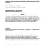 Pdf) Procedural Fairness In Workplace Investigations Throughout Workplace Investigation Report Template