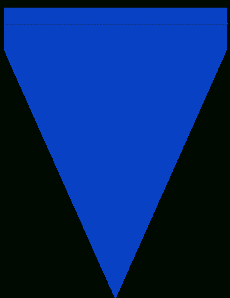 Pennant Clipart Banner Template, Pennant Banner Template With Triangle Pennant Banner Template