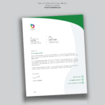 Perfect Letterhead Design In Word Free – Used To Tech Regarding Word Stationery Template Free