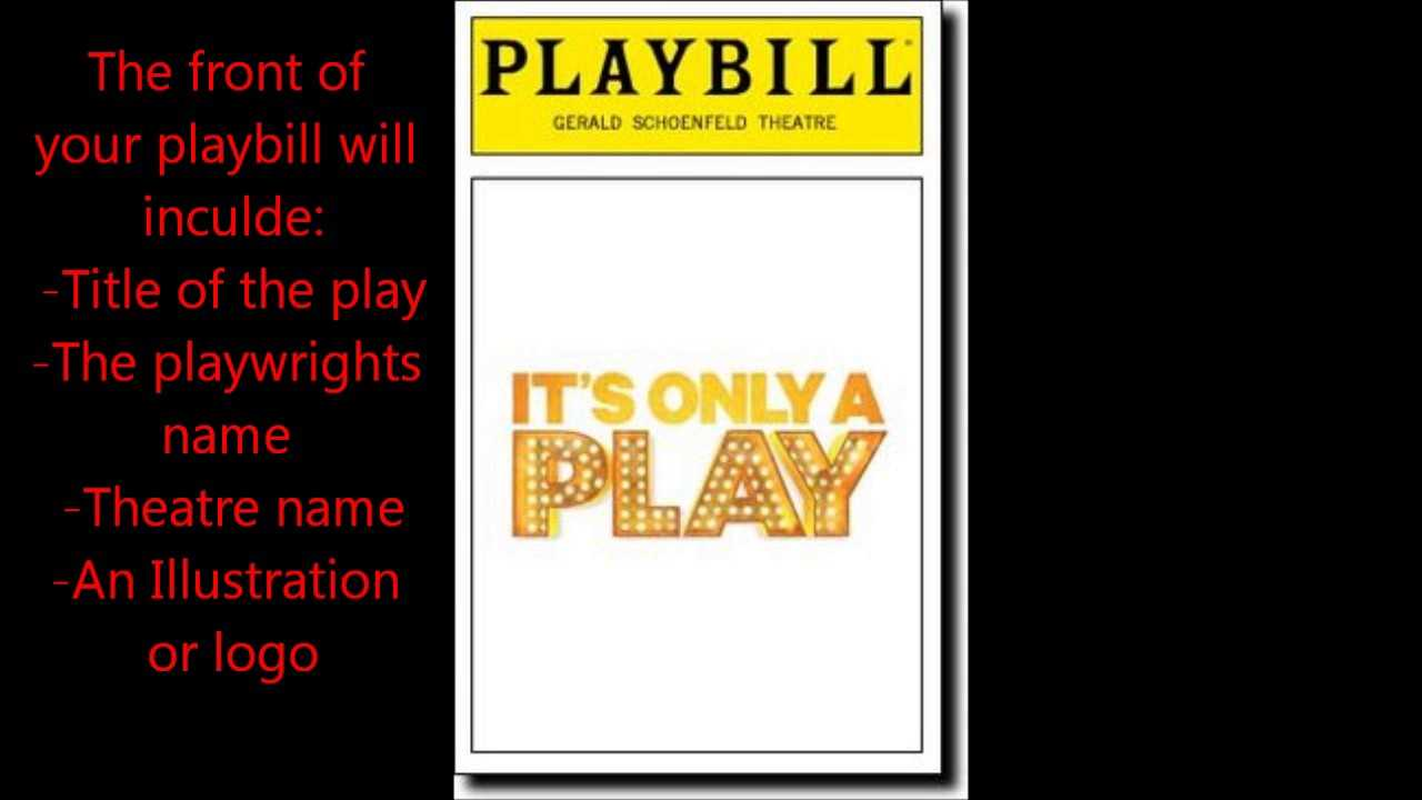 Playbill Project - Youtube For Playbill Template Word