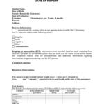 Preschool Evaluation Report Template Regarding Deviation Report Template