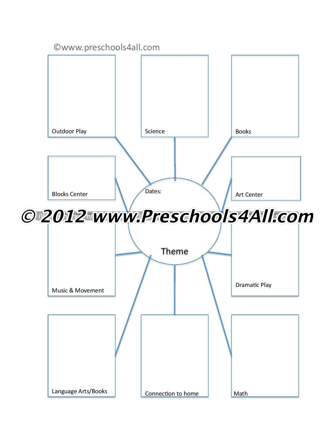 Preschool Lesson Plan Template - Lesson Plan Book Template Intended For Blank Food Web Template