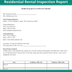Rental Inspection Report   Property Inspection Checklist inside Property Management Inspection Report Template