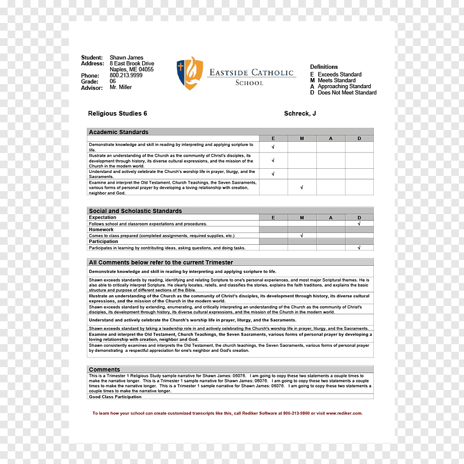 Report Card Middle School Template National Secondary School Regarding Middle School Report Card Template