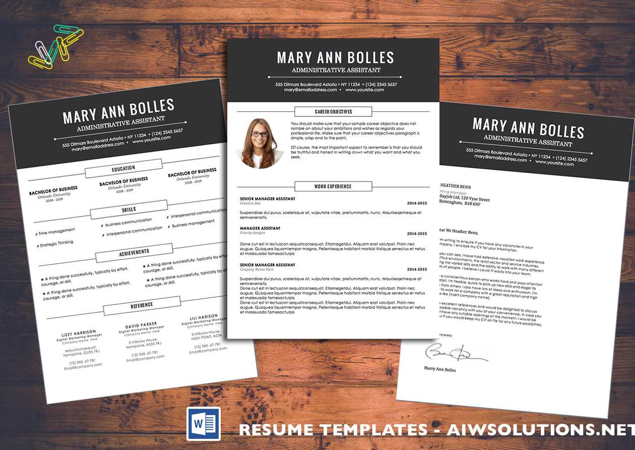 Resume Template Id02 Pertaining To How To Create A Cv Template In Word