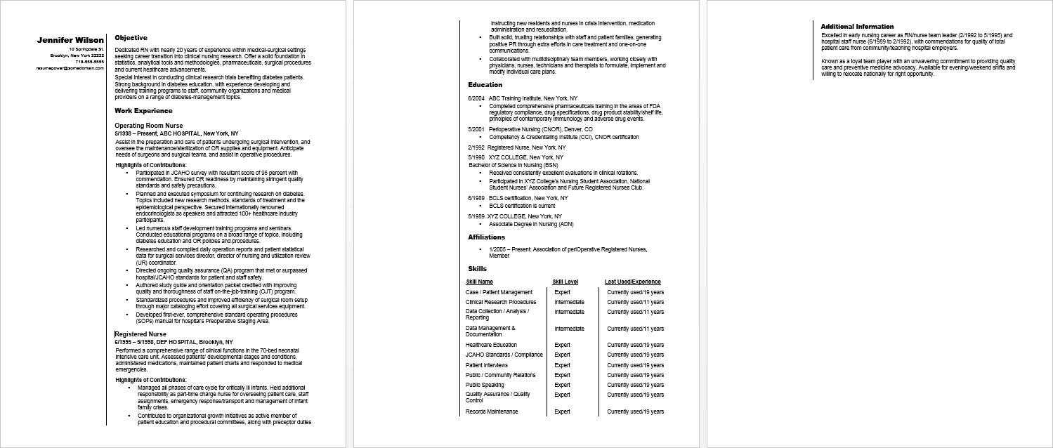 Rn Career Change Resume Sample | Monster With Regard To Charge Nurse Report Sheet Template