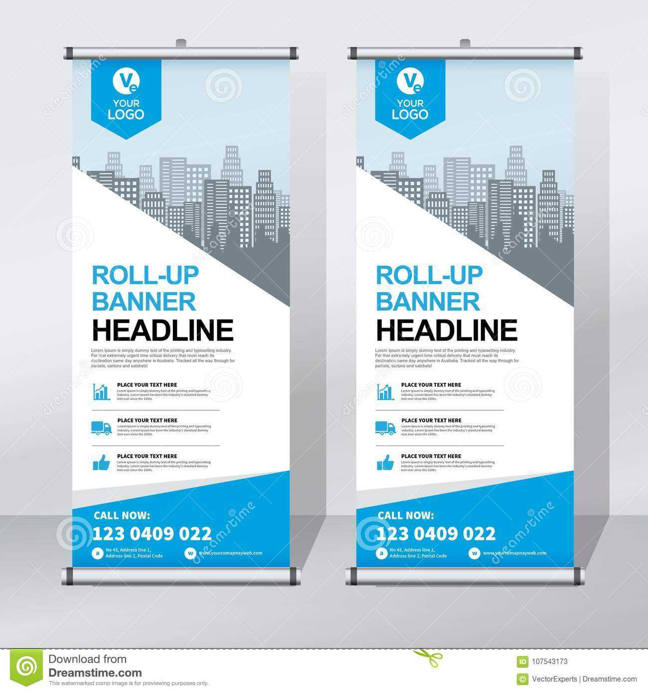 Roll Up Banner Design Template, Vertical, Abstract Regarding Pop Up Banner Design Template