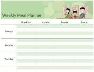 Simple Meal Planner in Weekly Meal Planner Template Word