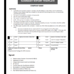 Summary Report Template pertaining to Evaluation Summary Report Template