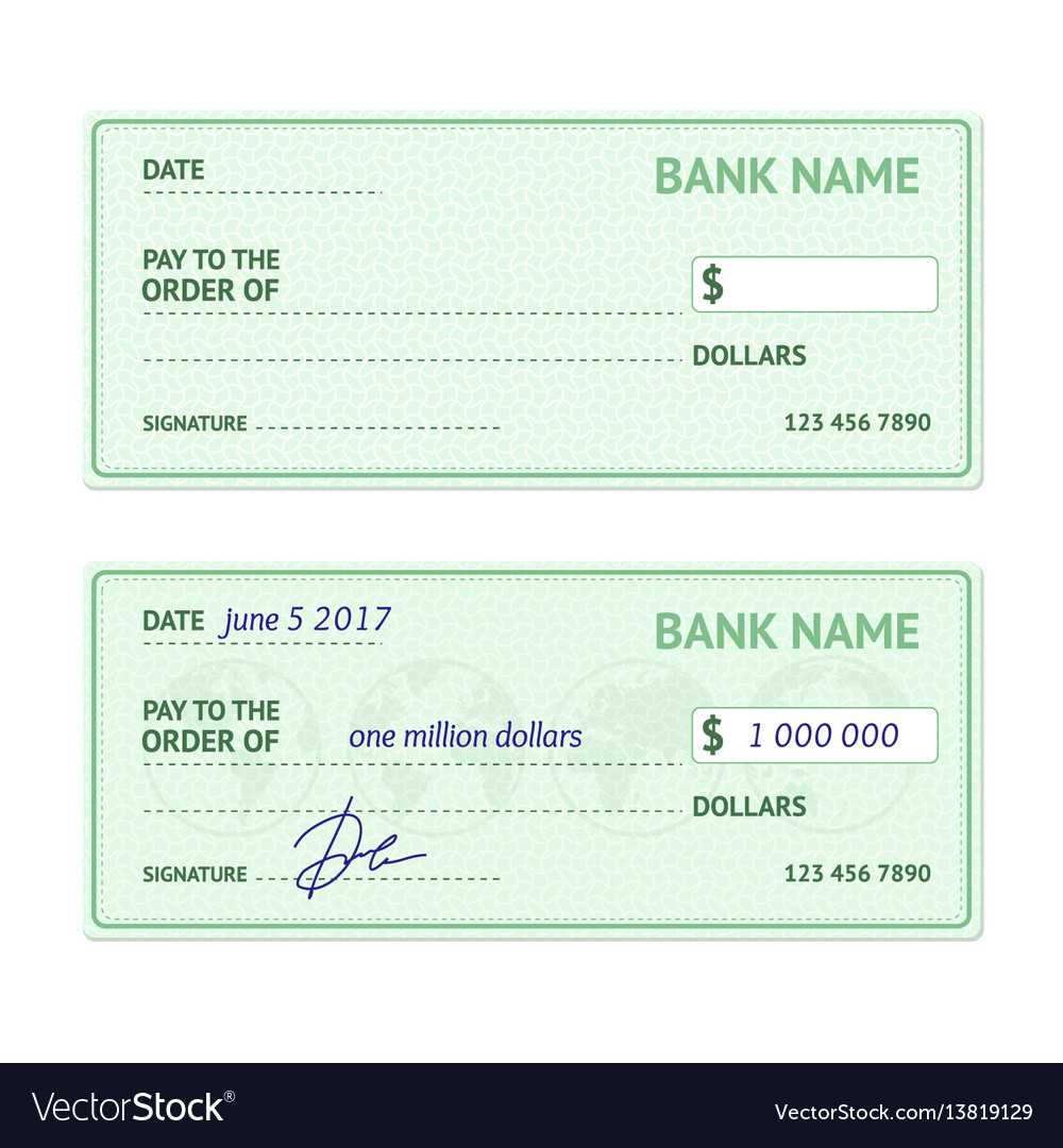 Template Blank Bank Check Inside Blank Cheque Template Download Free