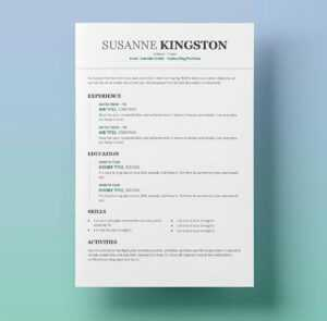 Templates For Resumes On Word - Papele.alimentacionsegura intended for Microsoft Word Resume Template Free