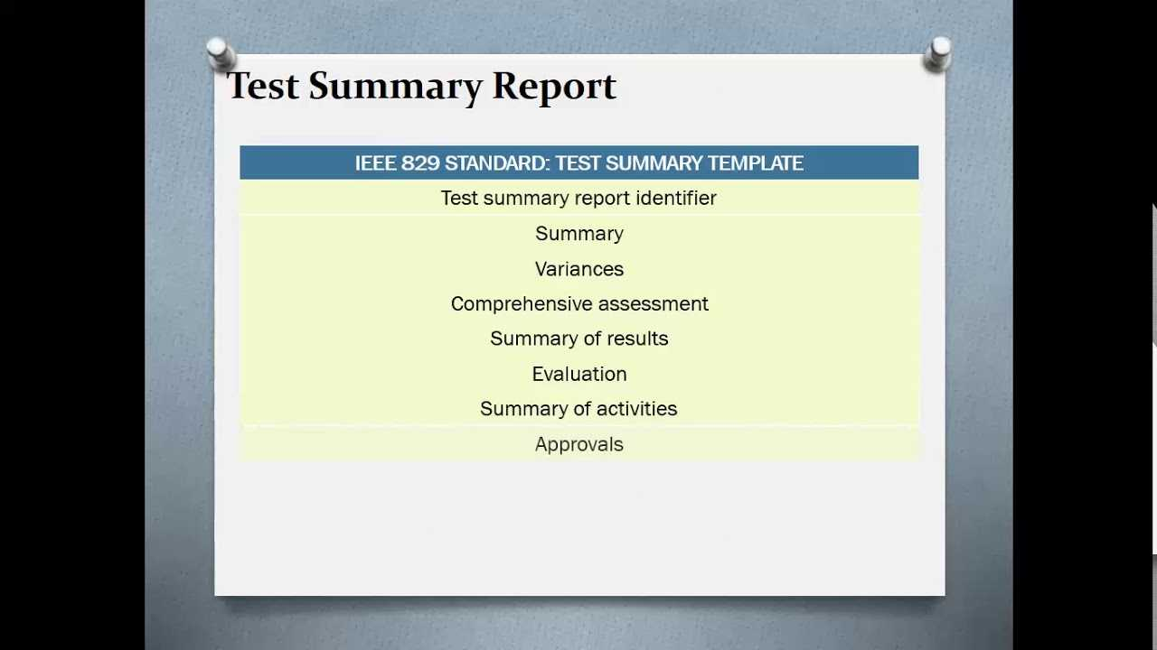 Test Summary Reports   Qa Platforms Within Test Summary Report Template