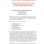Tips In Psychological Report Writing – Psych 522 – Studocu Within Monitoring And Evaluation Report Writing Template