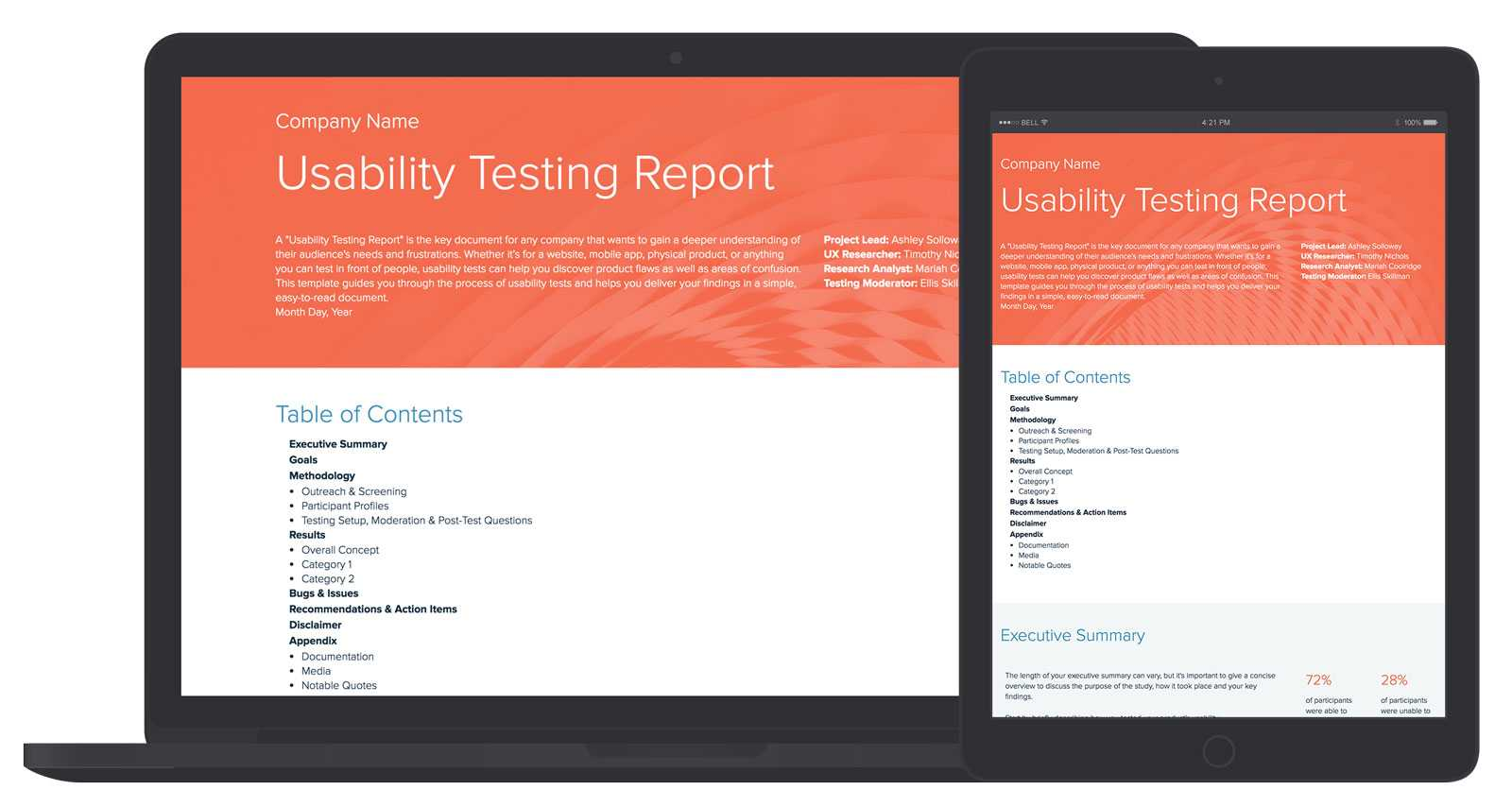 Usability Testing Report Template And Examples | Xtensio Regarding Usability Test Report Template