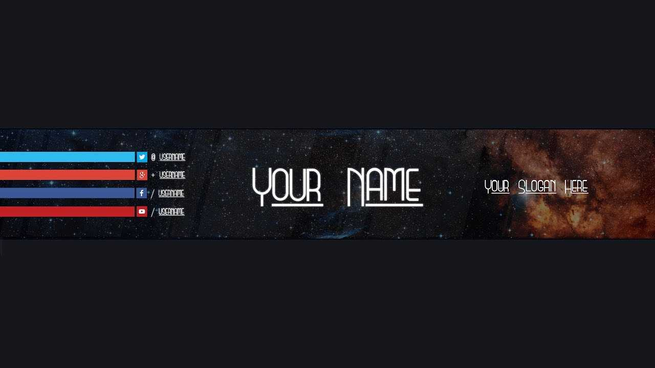 Youtube Banner Template #18 (Adobe Photoshop) For Adobe Photoshop Banner Templates